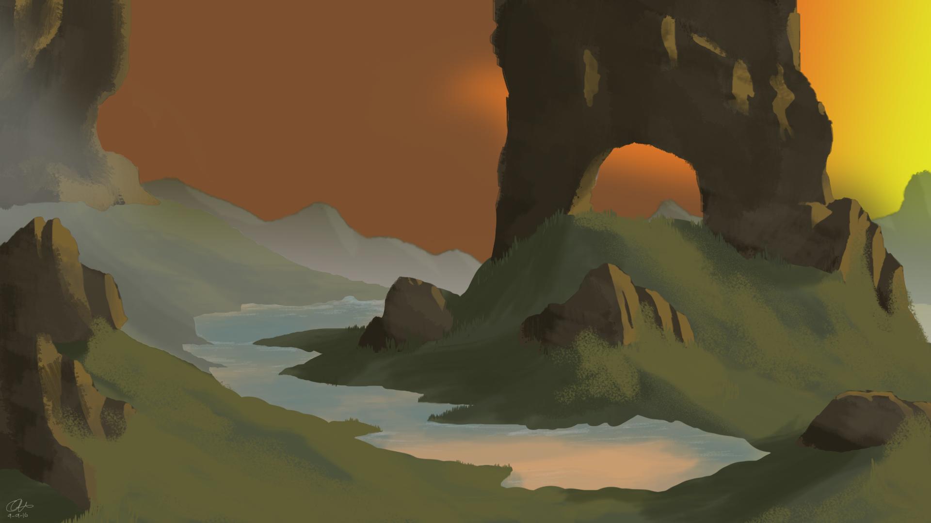 Fantasy Hills Concept art - Quinamations