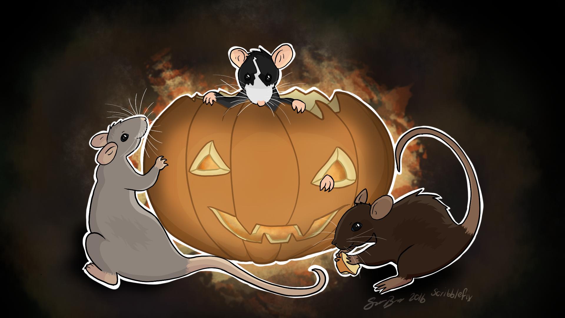 halloween rats digital version