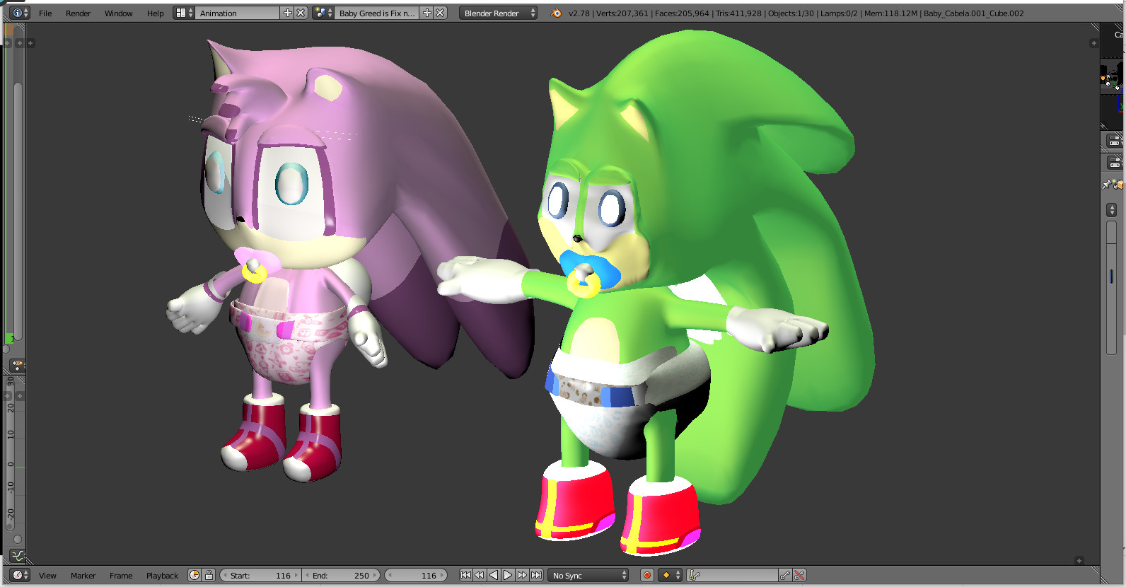 Baby Cabela 3D And Baby Greed 3D Team Power SEGA 2