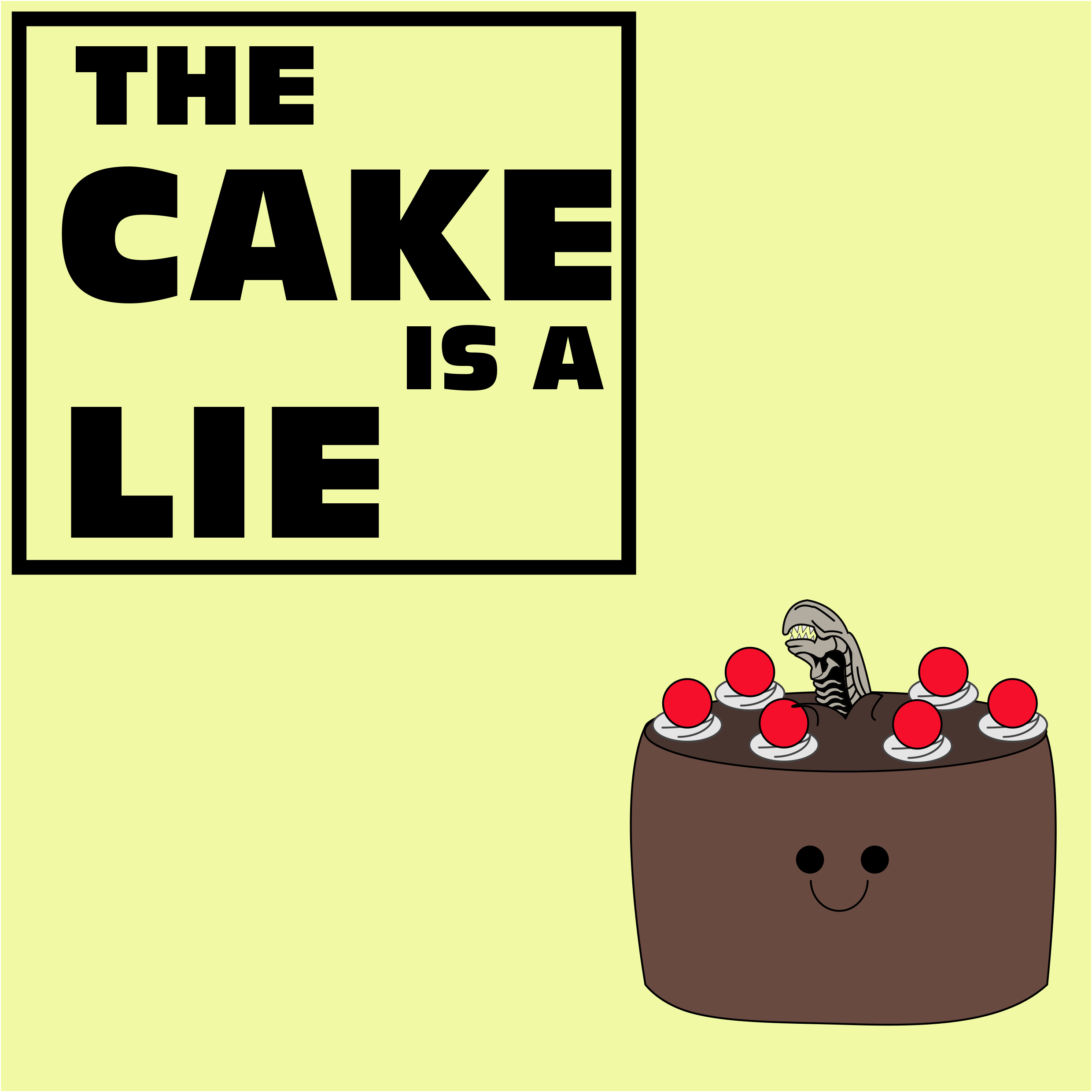 the cake is a lie by Mprodution on Newgrounds