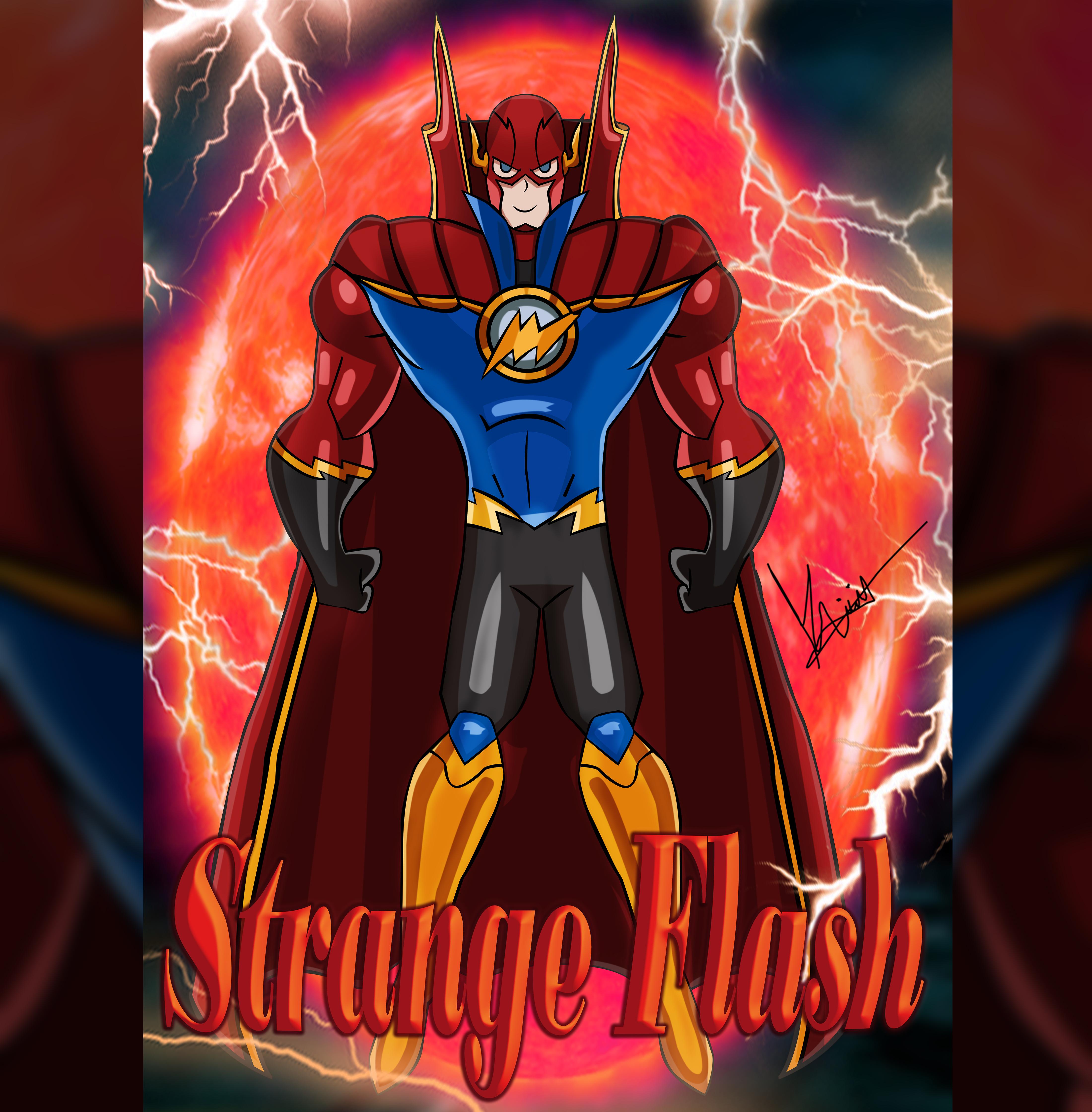 Strange Flash Superhero
