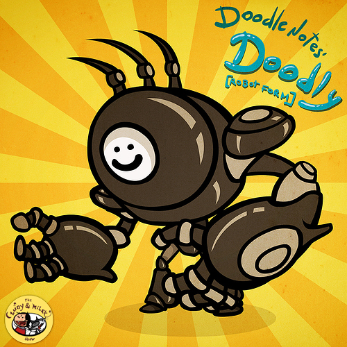 Doodly - robot form (original character from Doodley_Notes)