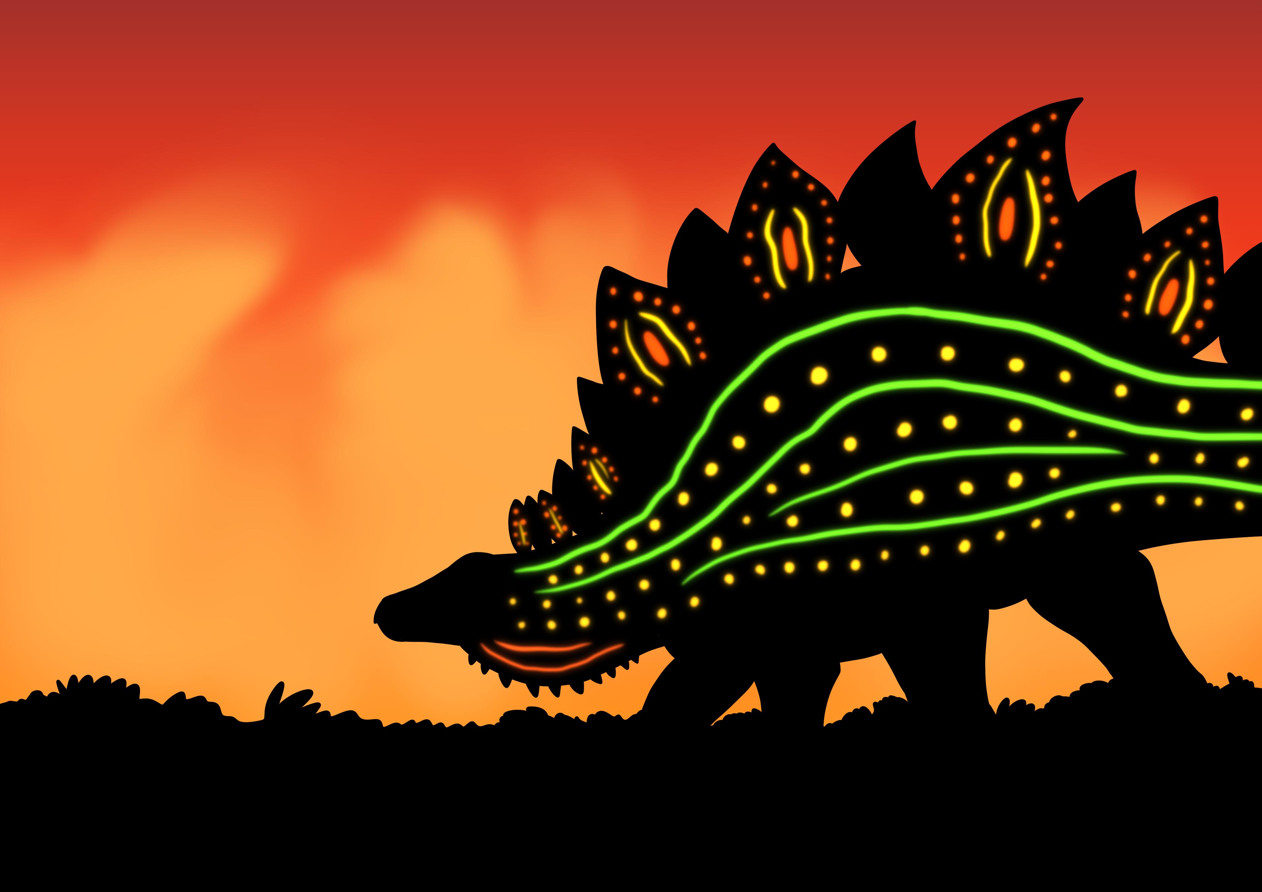Stegosaurus Sunset