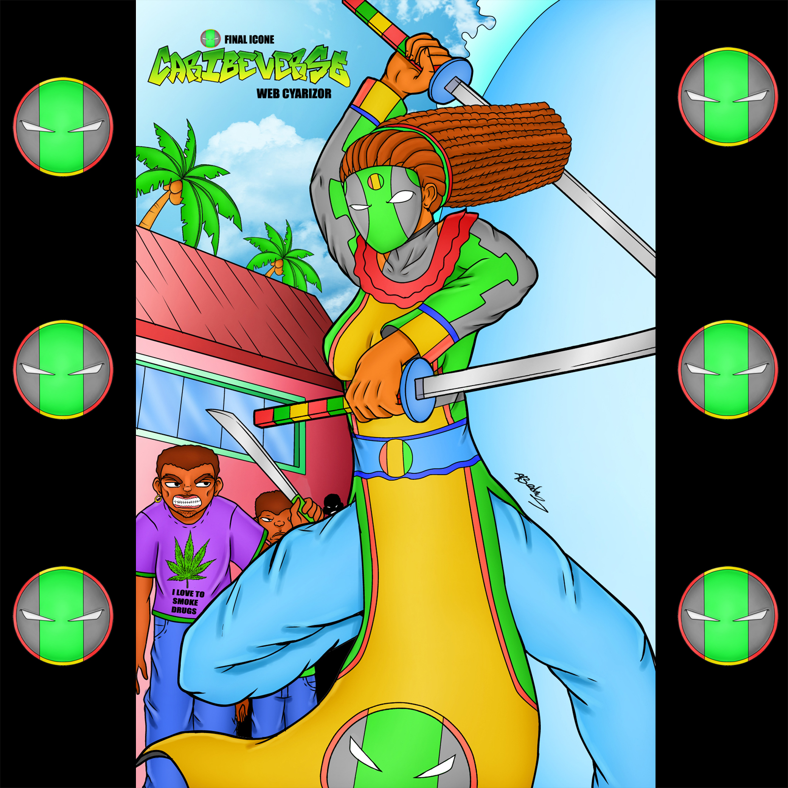 Caribeverse two sword action