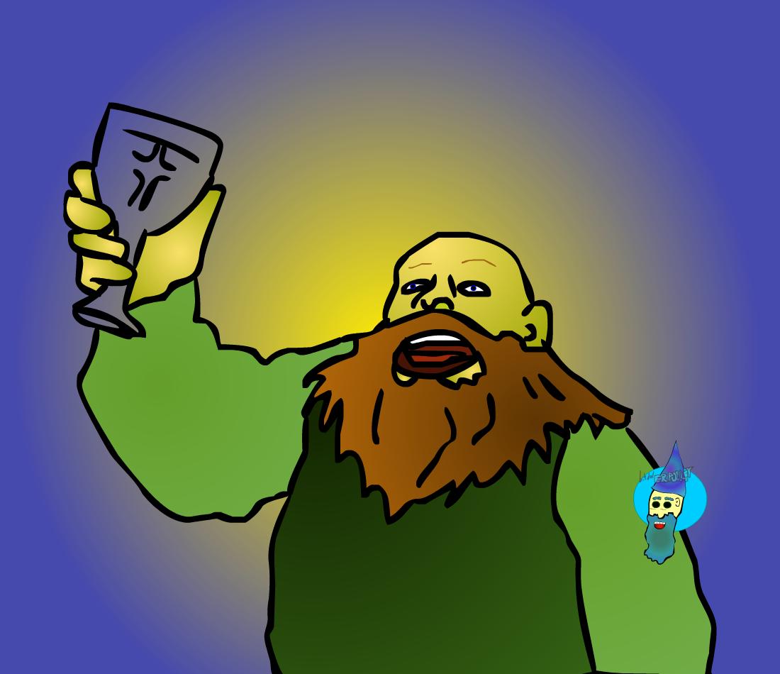 dwarf with ale
