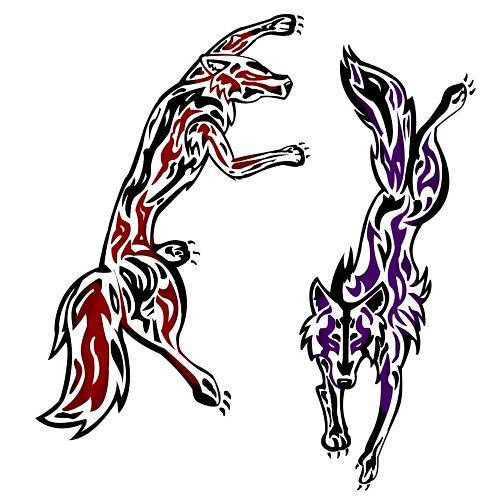 Gemini wolf tattoo