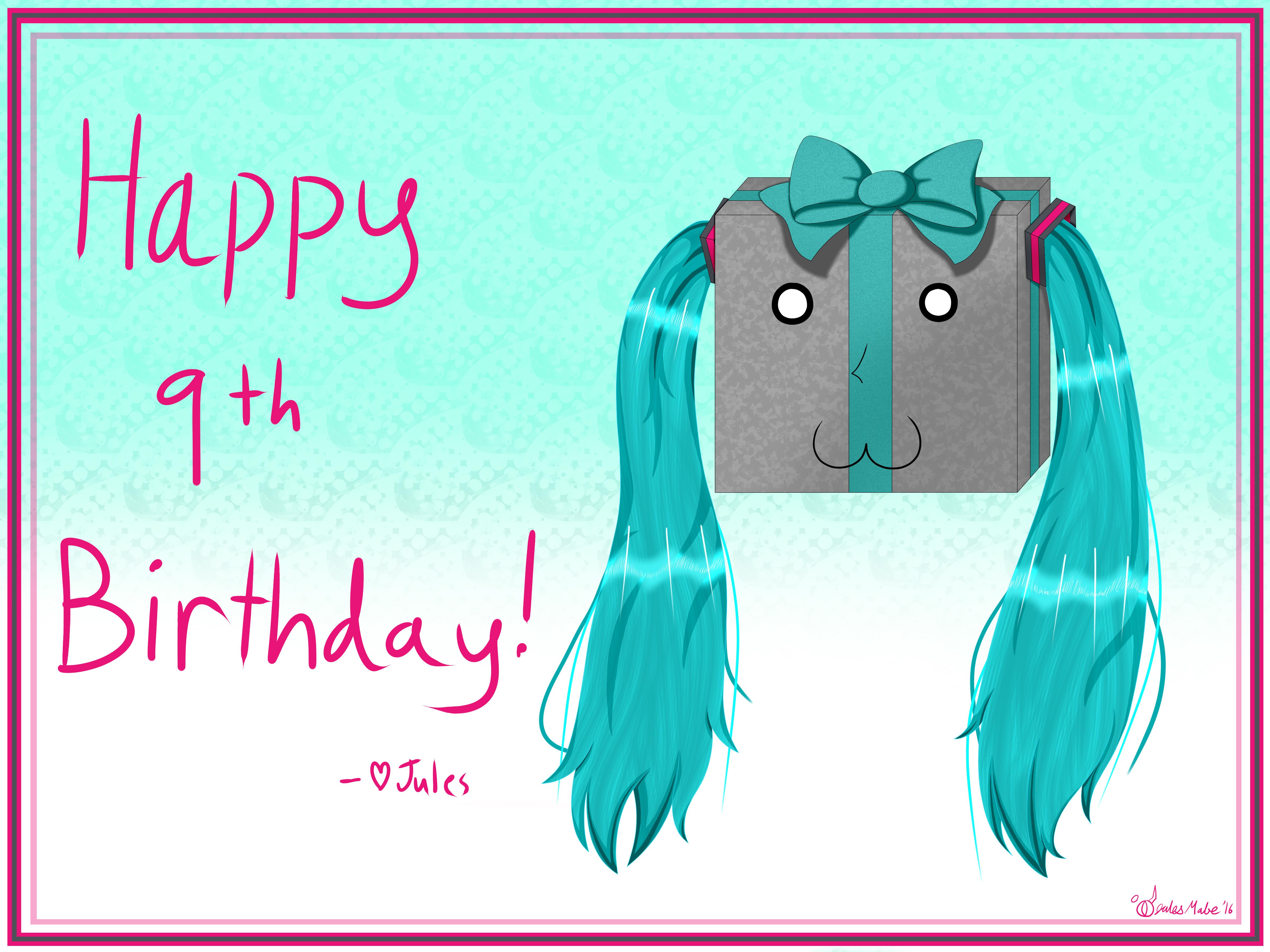 Miku 2016 Birthday Card