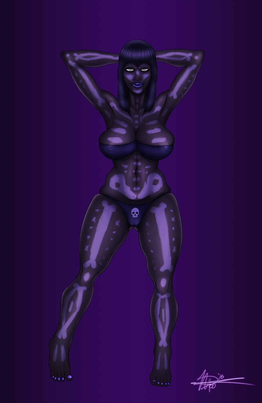 Spooky Curvy Skeleton