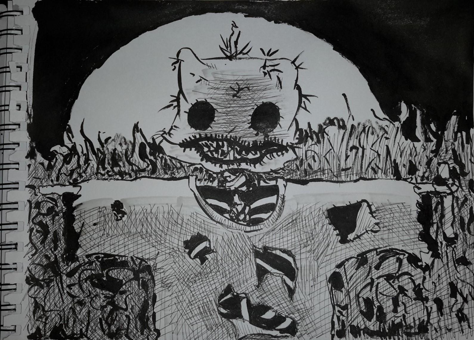 Inktober#4 Scarecrow