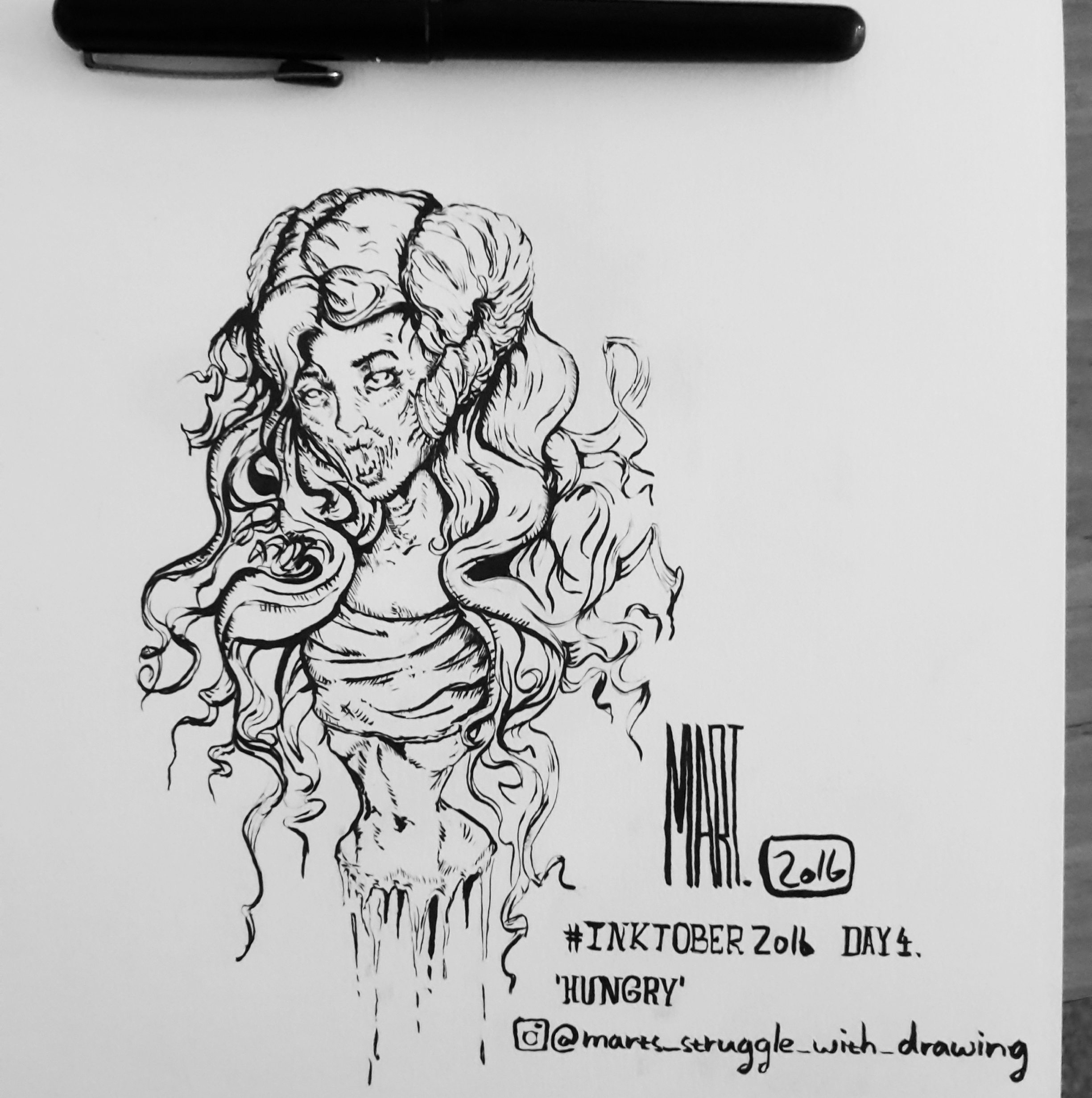 Inktober 2016 day 4 'HUNGRY'