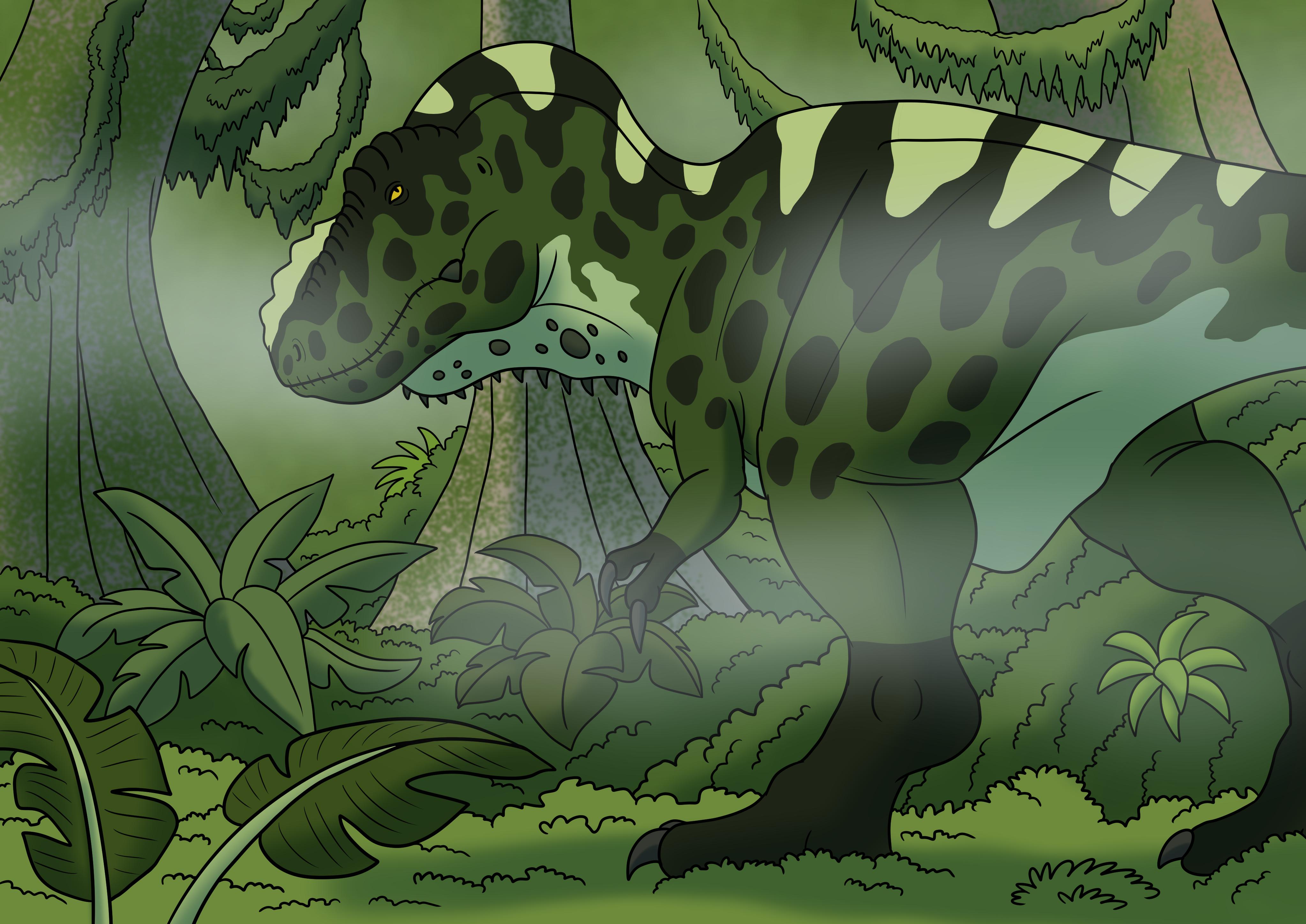 Tyrannosaur in the Mist