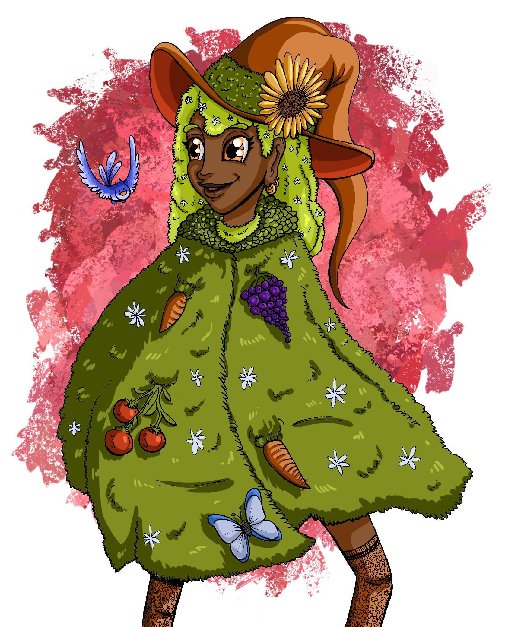 Inktober day 4- Garden witch