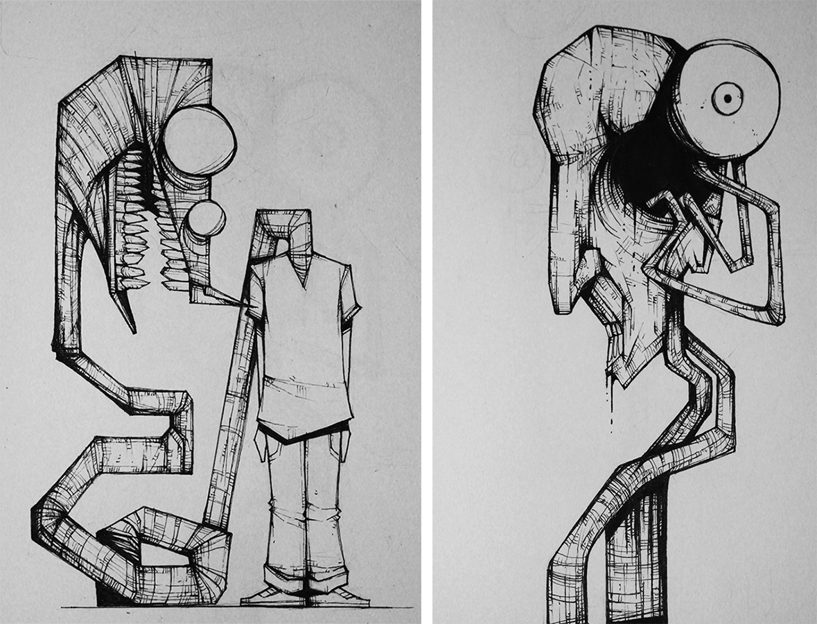 Inktober 8 and 9