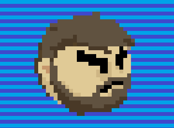 pixel art self portrait caricature