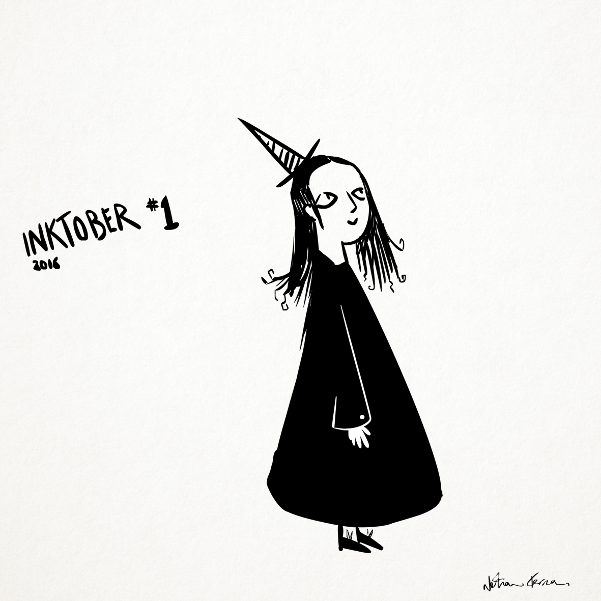 Inktober 1: The Little Witch