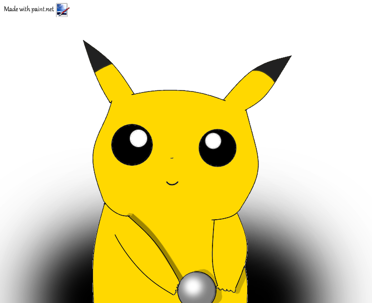Baby Pikachu playing with a ball