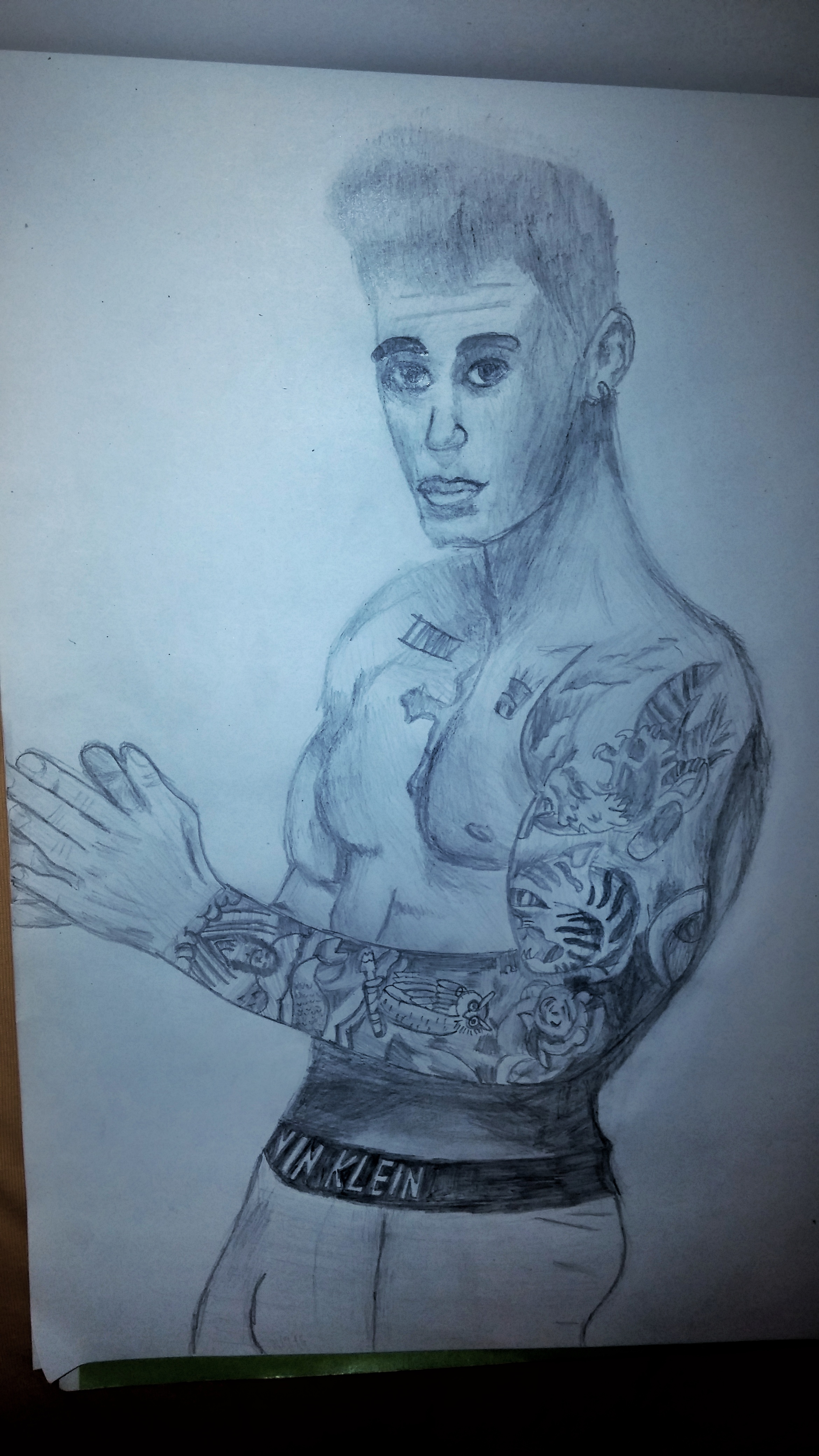 Justin Bieber Birthday Art (for my sister :P)