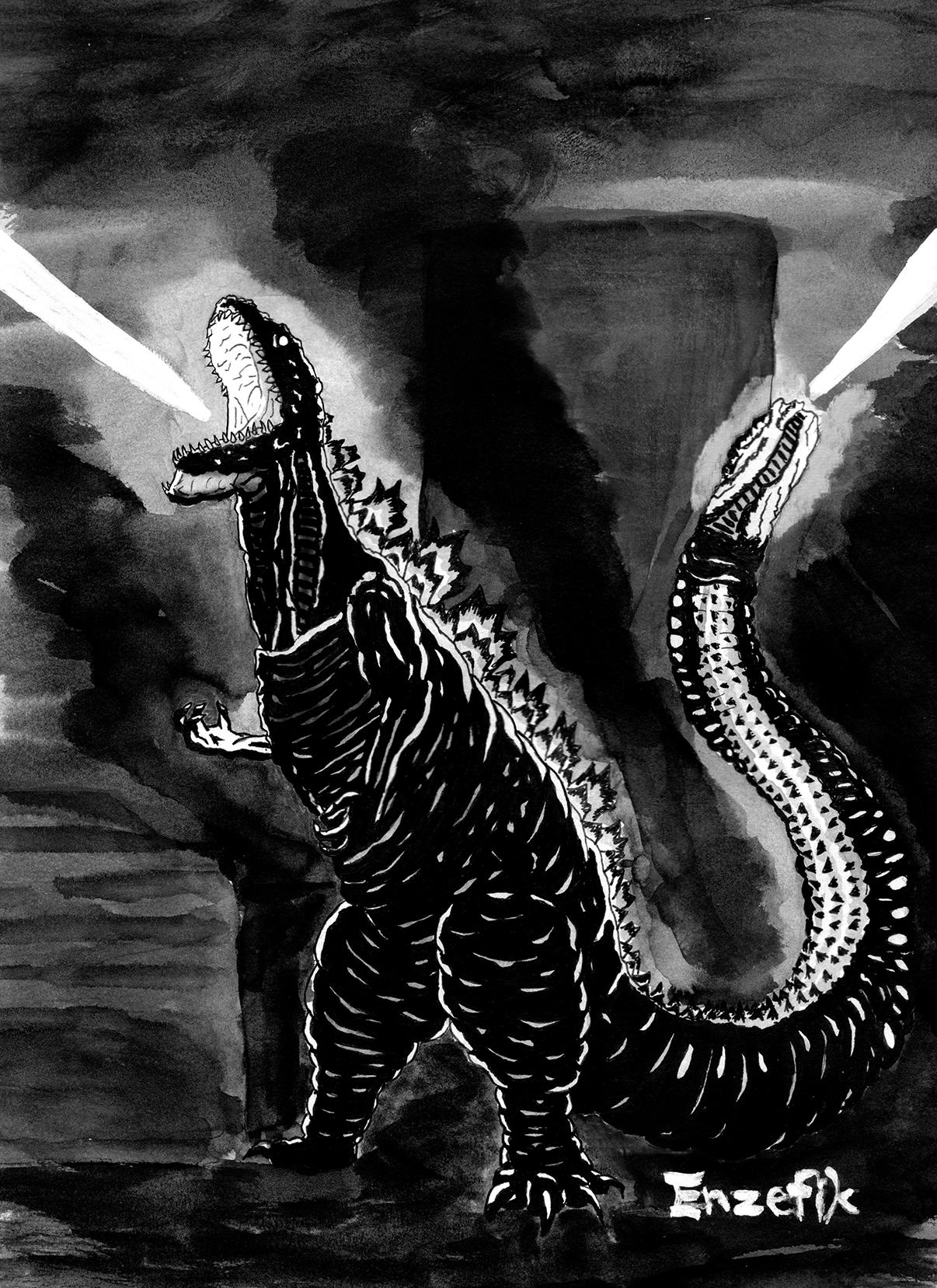 Inktober: Godzilla