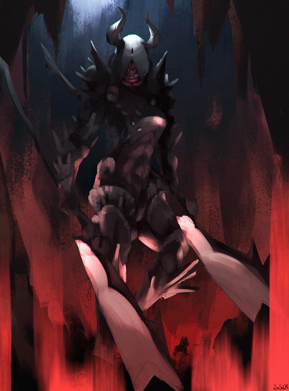 Double halberd demon