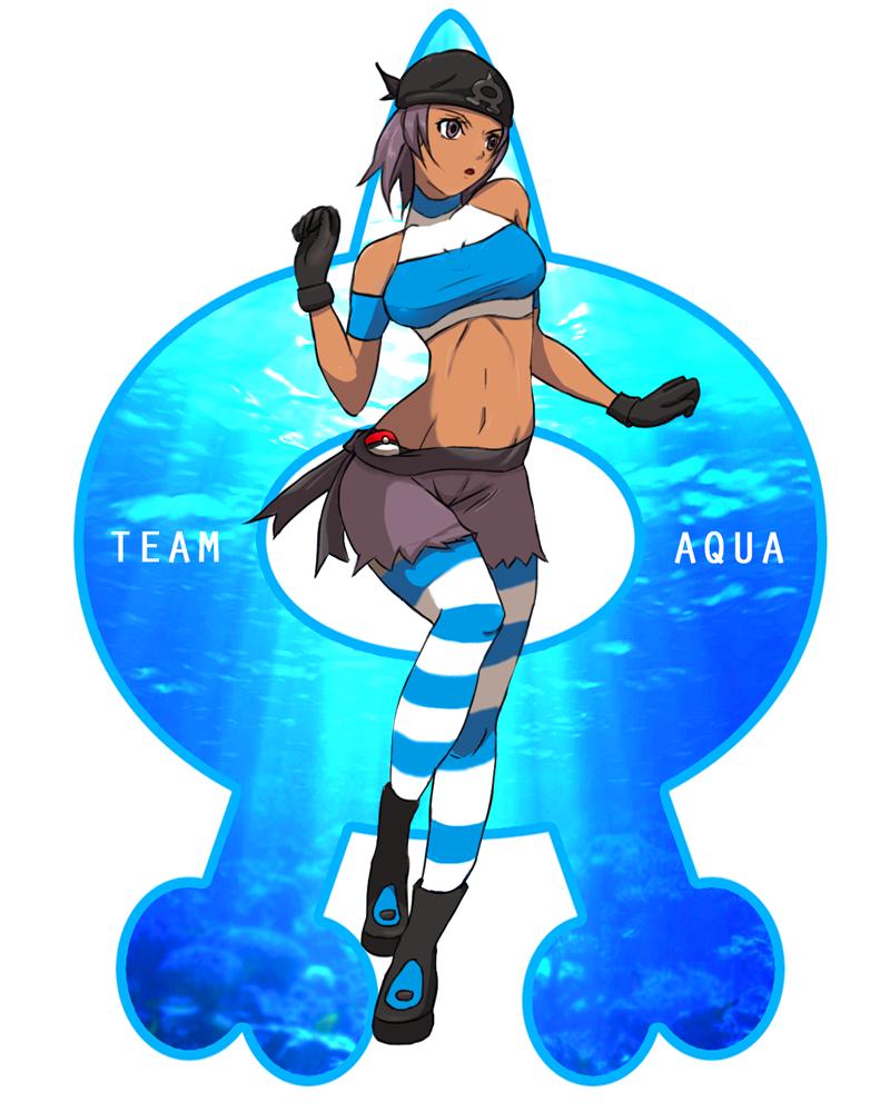 Female grunt team aqua
