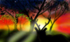 Deer at Twilight: Made on 3DS