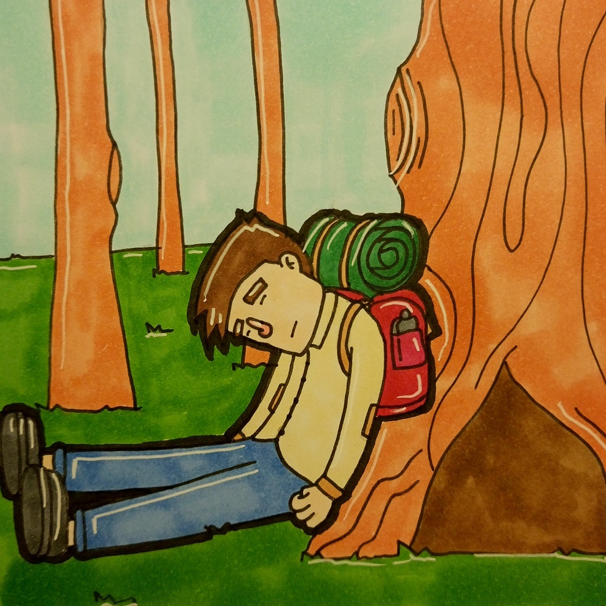 Inktober day 25 Tired