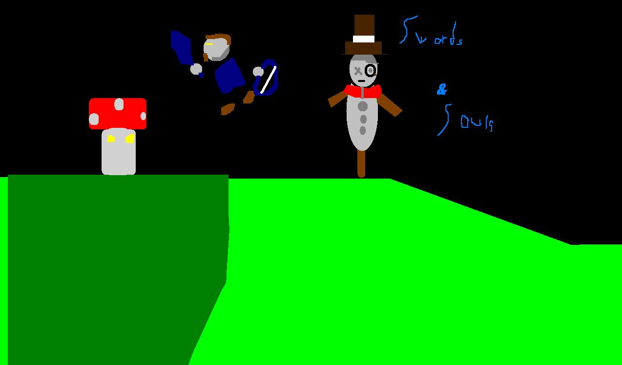 Swords And Souls Drawing(MS PAINT)