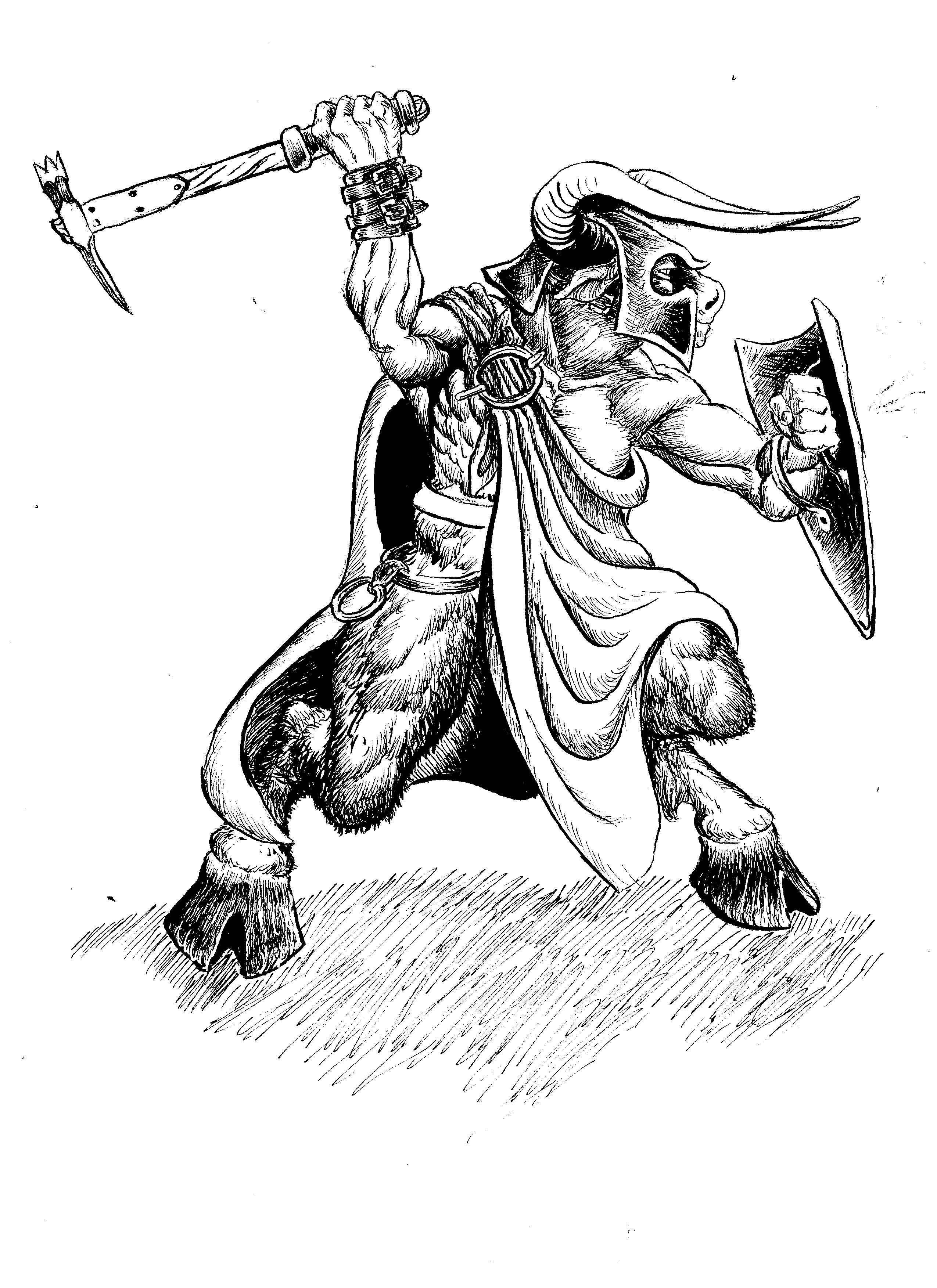 Minotaur in Ink