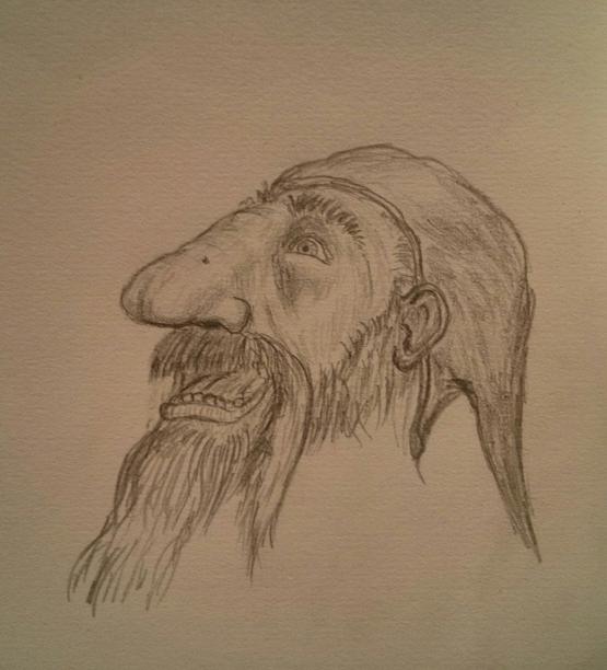 Happy Dwarf wearing a hat