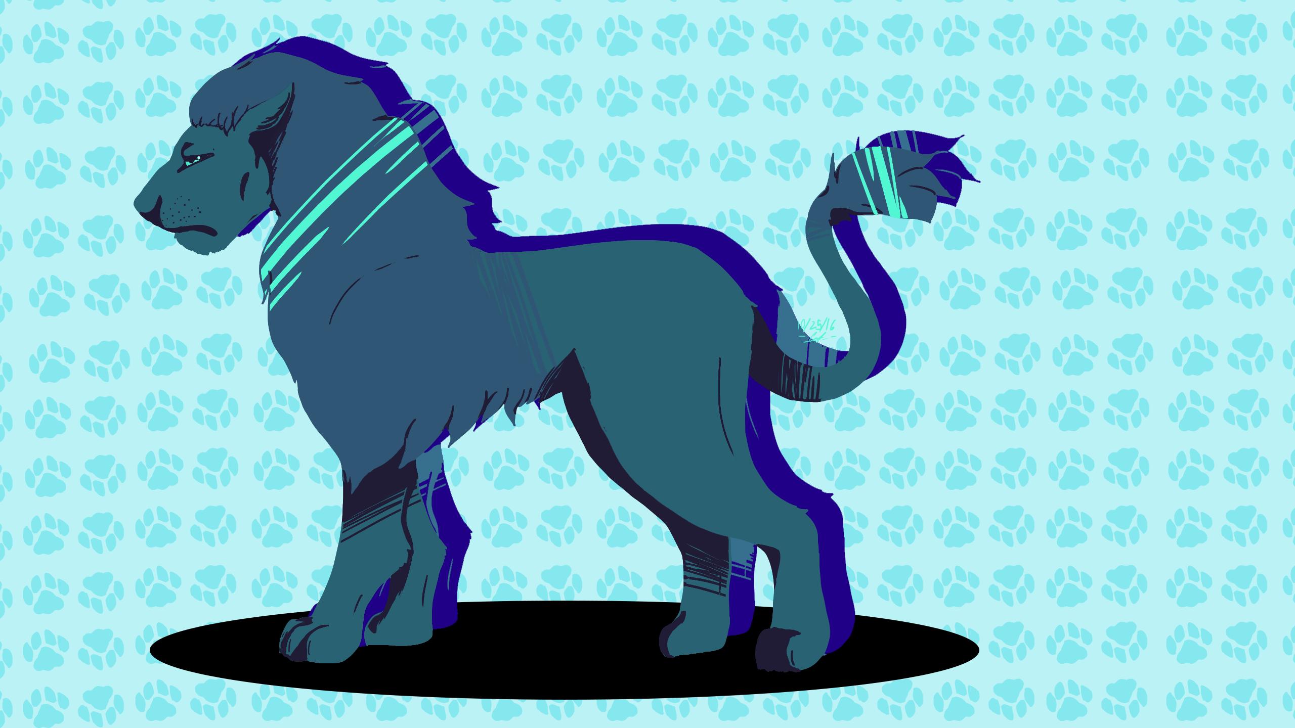 Palette Challenge 1: Blue Color -Lion-