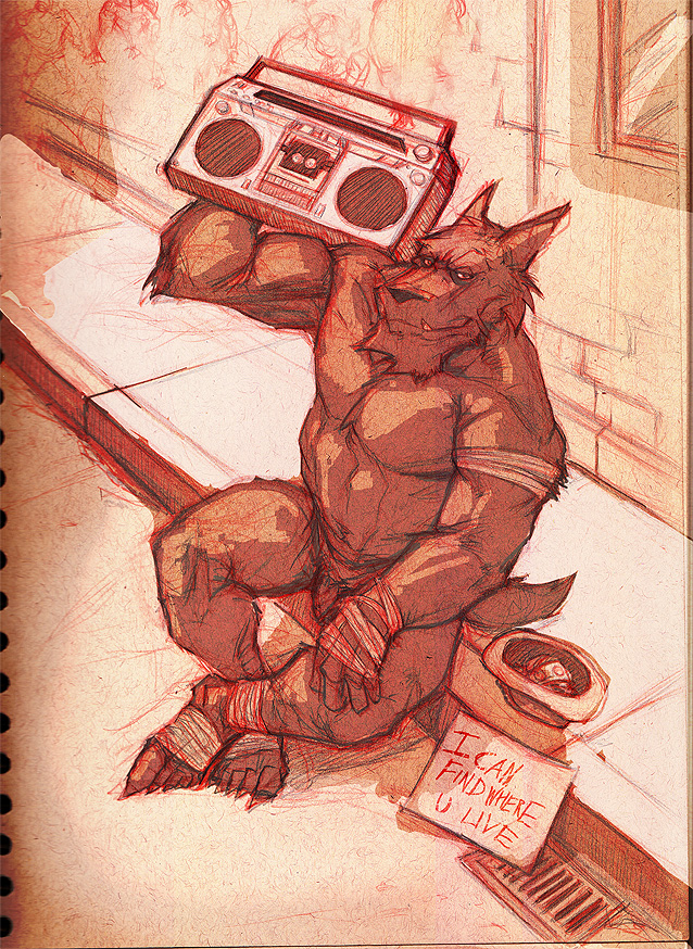 Werewolf with a Boom Box