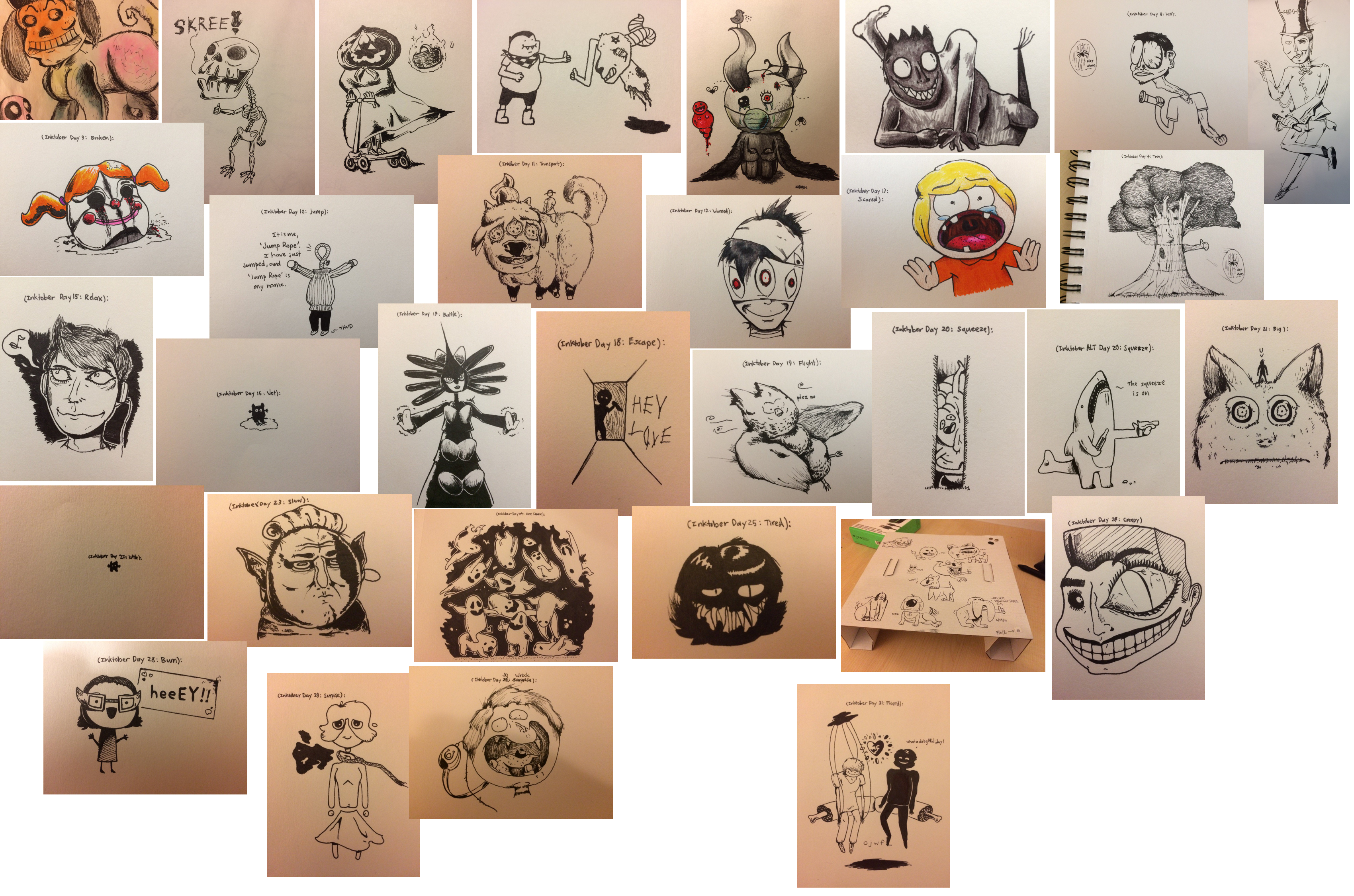 Inktober 2016 Collage