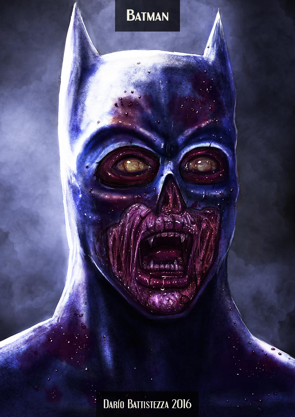 Batman turned into a zombie !!