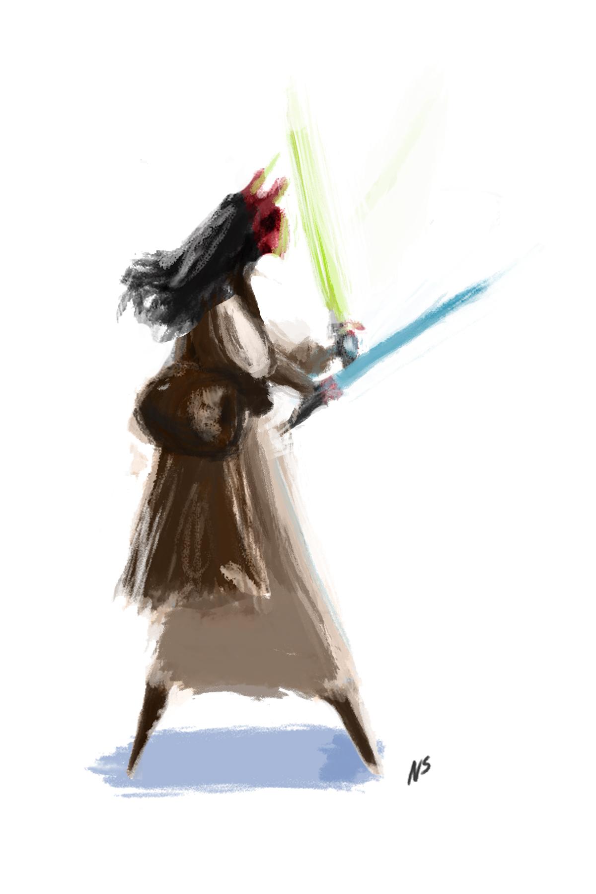Star Wars Fan Art - Red Jedi