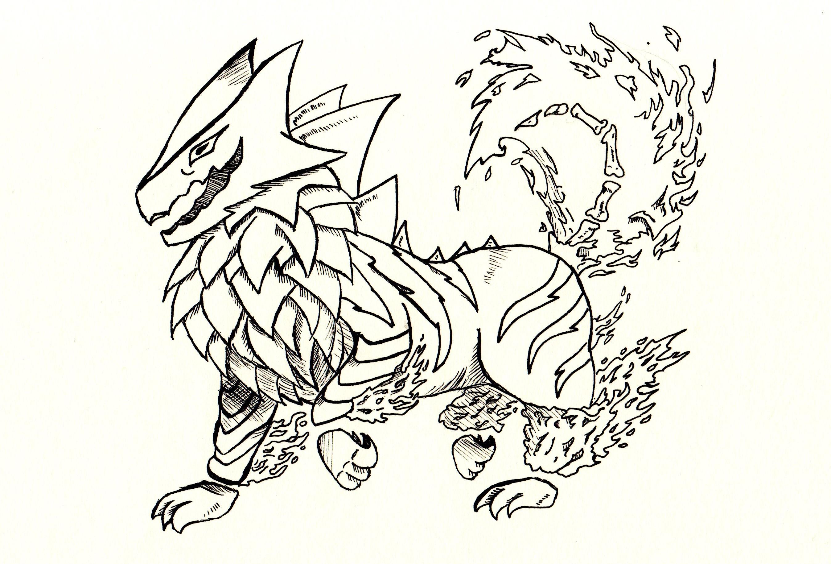 Arcanine + Haunter = Arcater (Sketch)