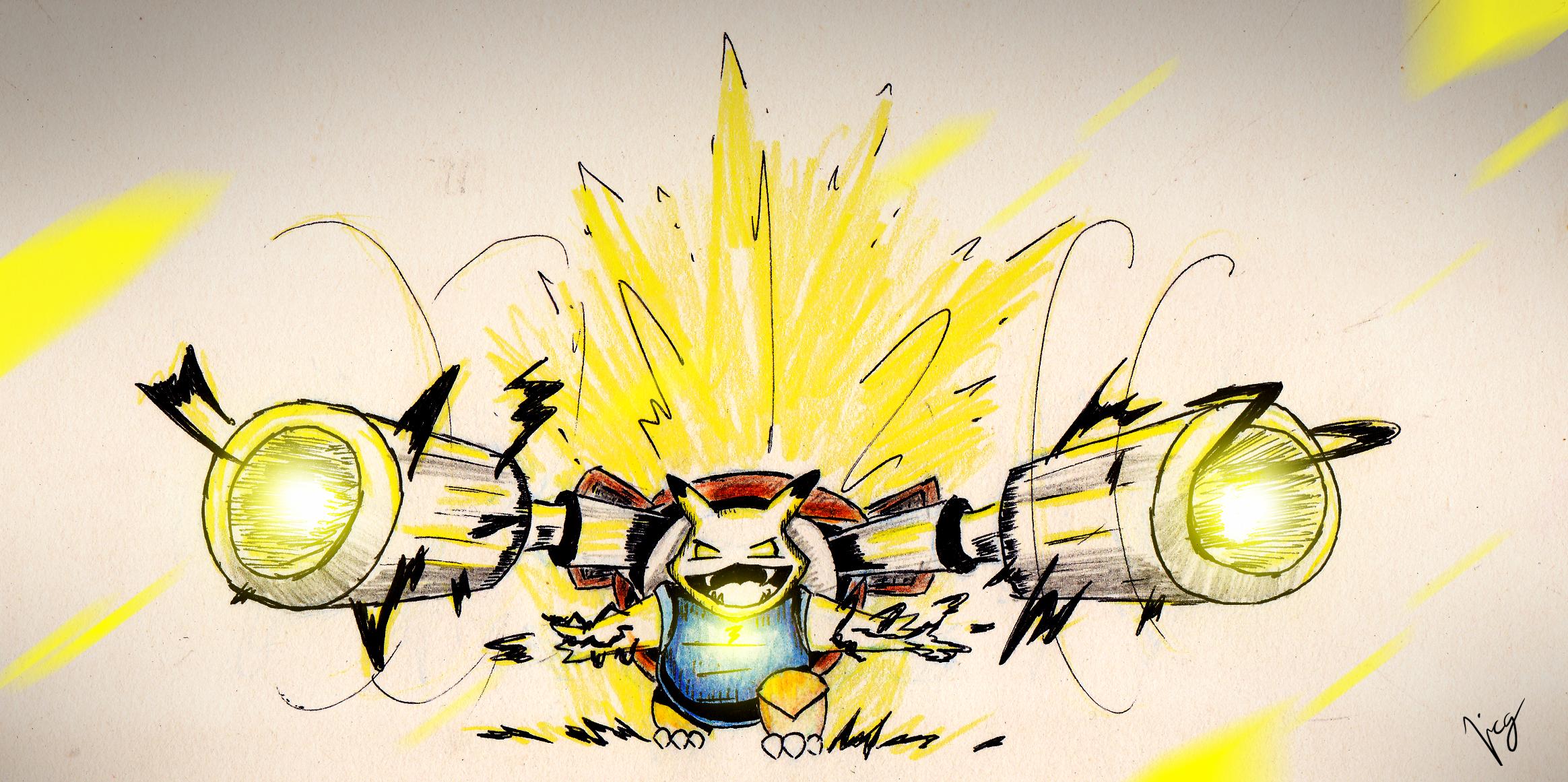 Pikachu + Blastoise = PIKABLAST