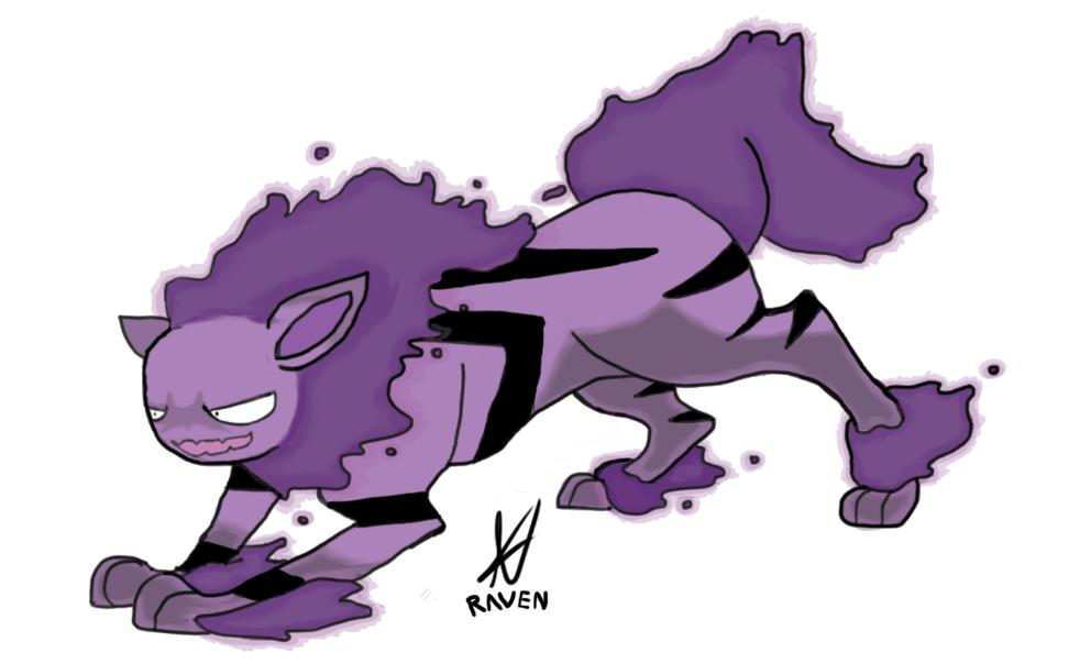 haunter + arcanine = hauntanine b-pokemonchallenge