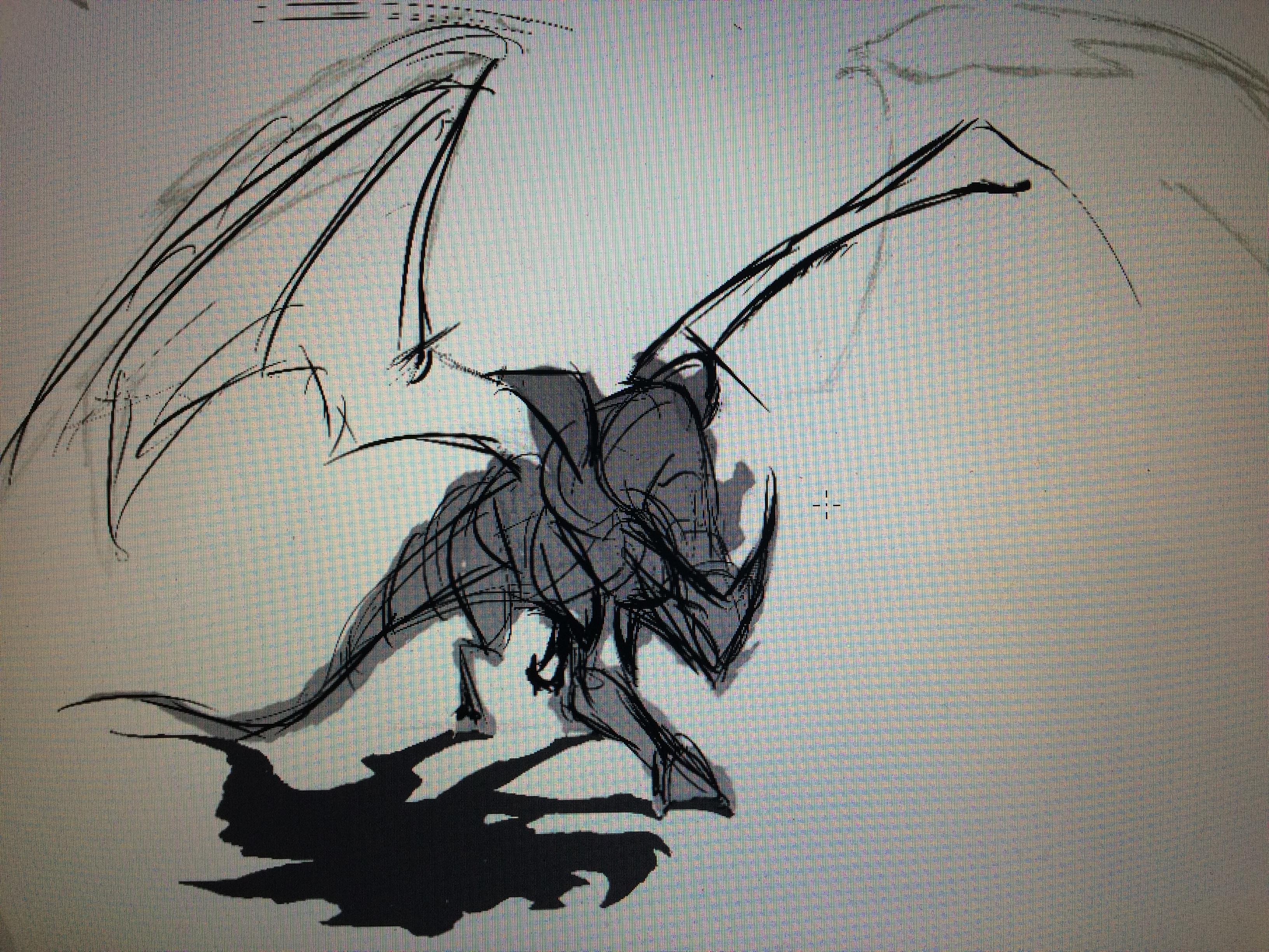 In-progress sketch for COTM November