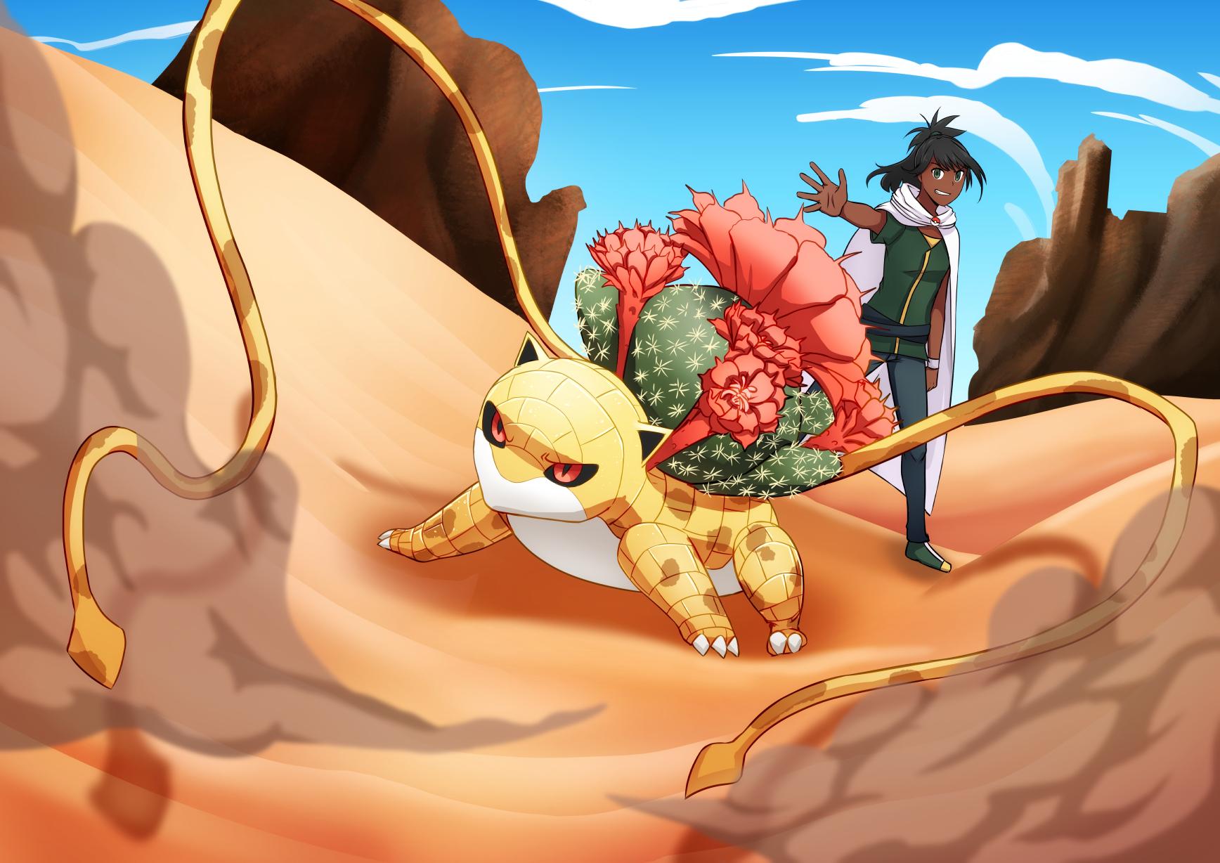 Sandsaur (Sandshrew-Ivysaur)