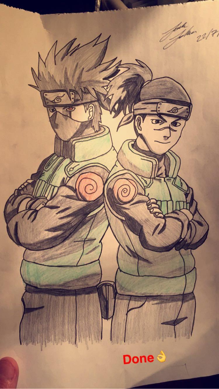 Kakashi and Iruka Sensei