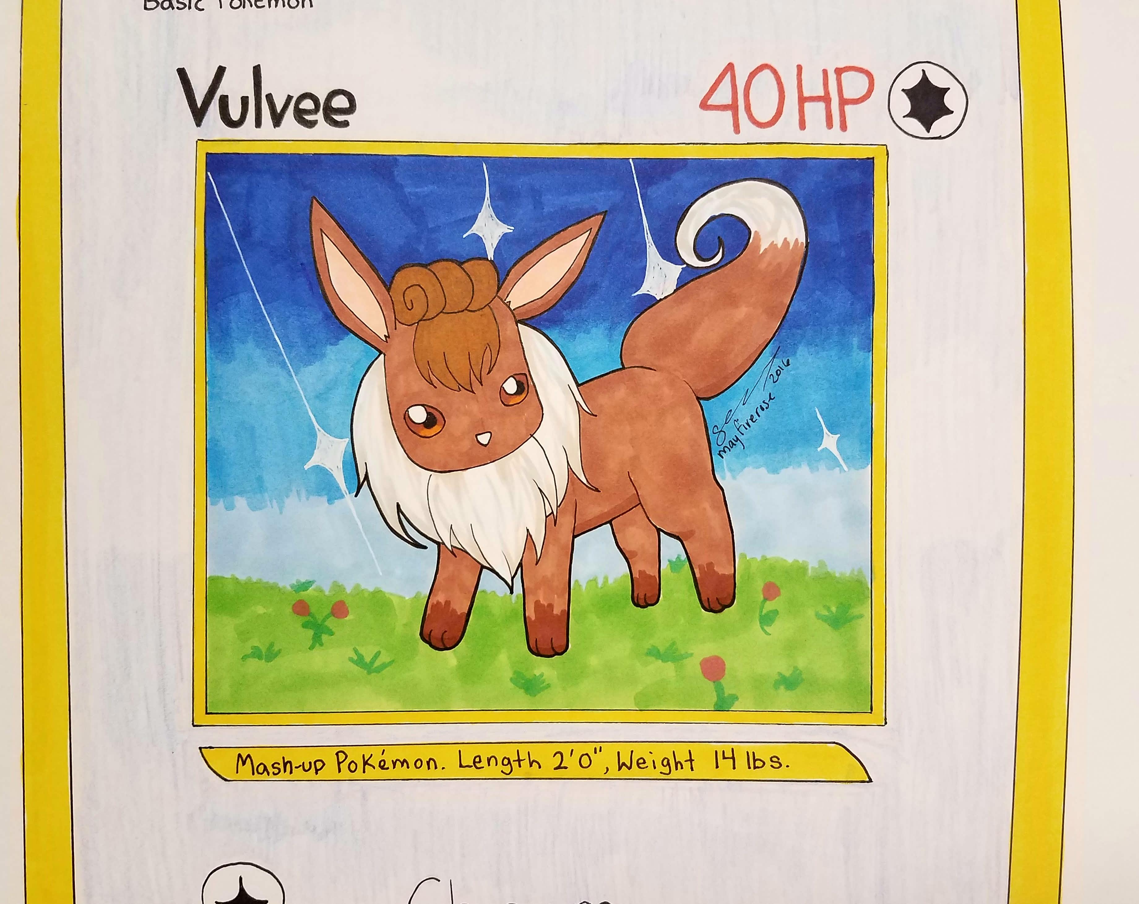 Mashup of Vulpix and Eevee Vulvee