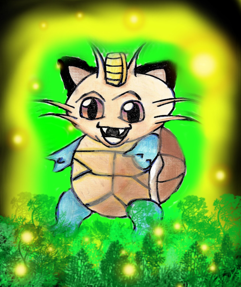 Meowth and Squirtle = Meotle