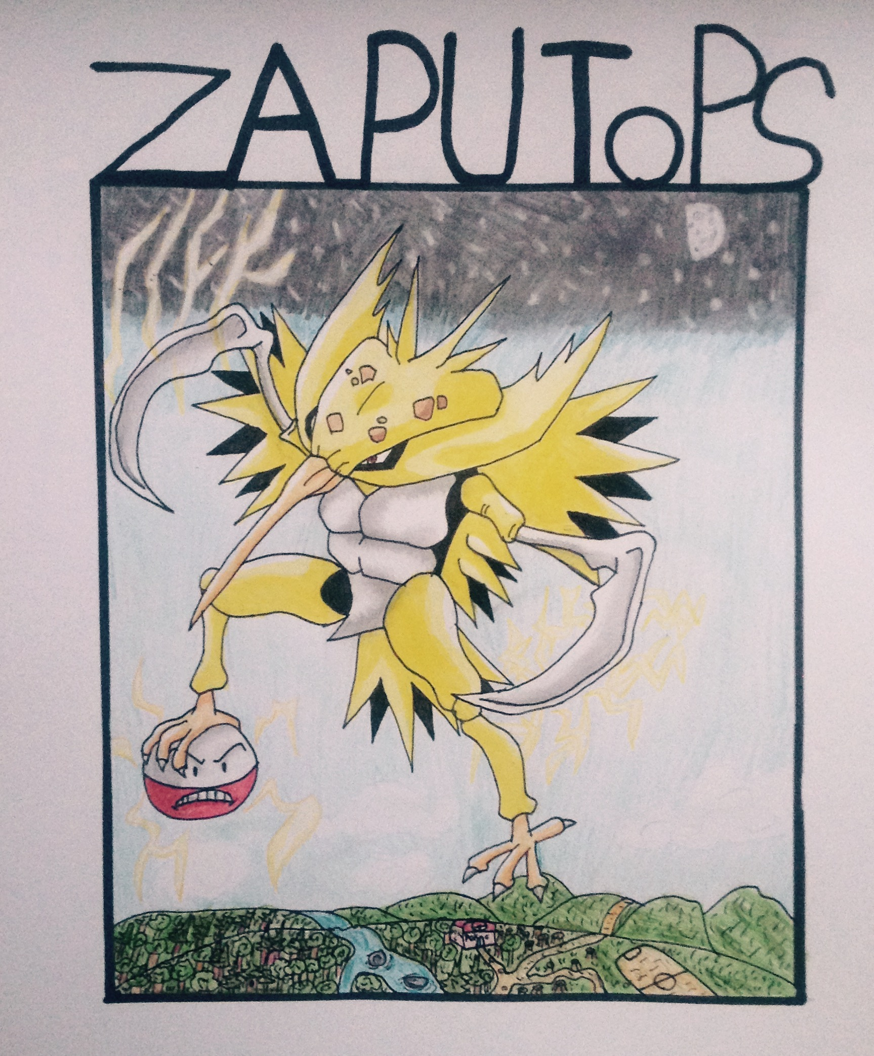 Kabutops + Zapdos = Zaputops