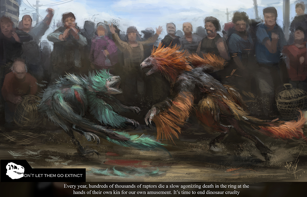 Don't Let Them Go Extinct- Raptor Fighting