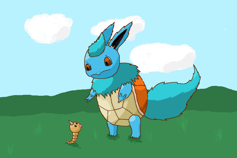 Flartle (Pokémon mashup challenge) (Squirtle and Flareon)