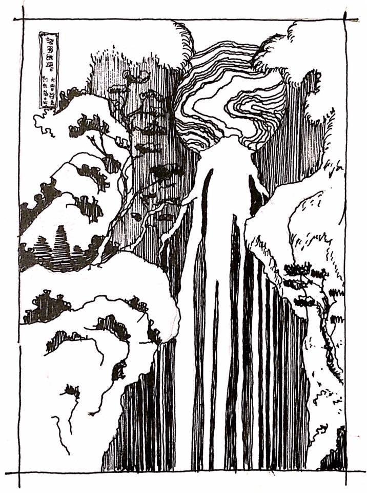 Hokusai's Waterfall
