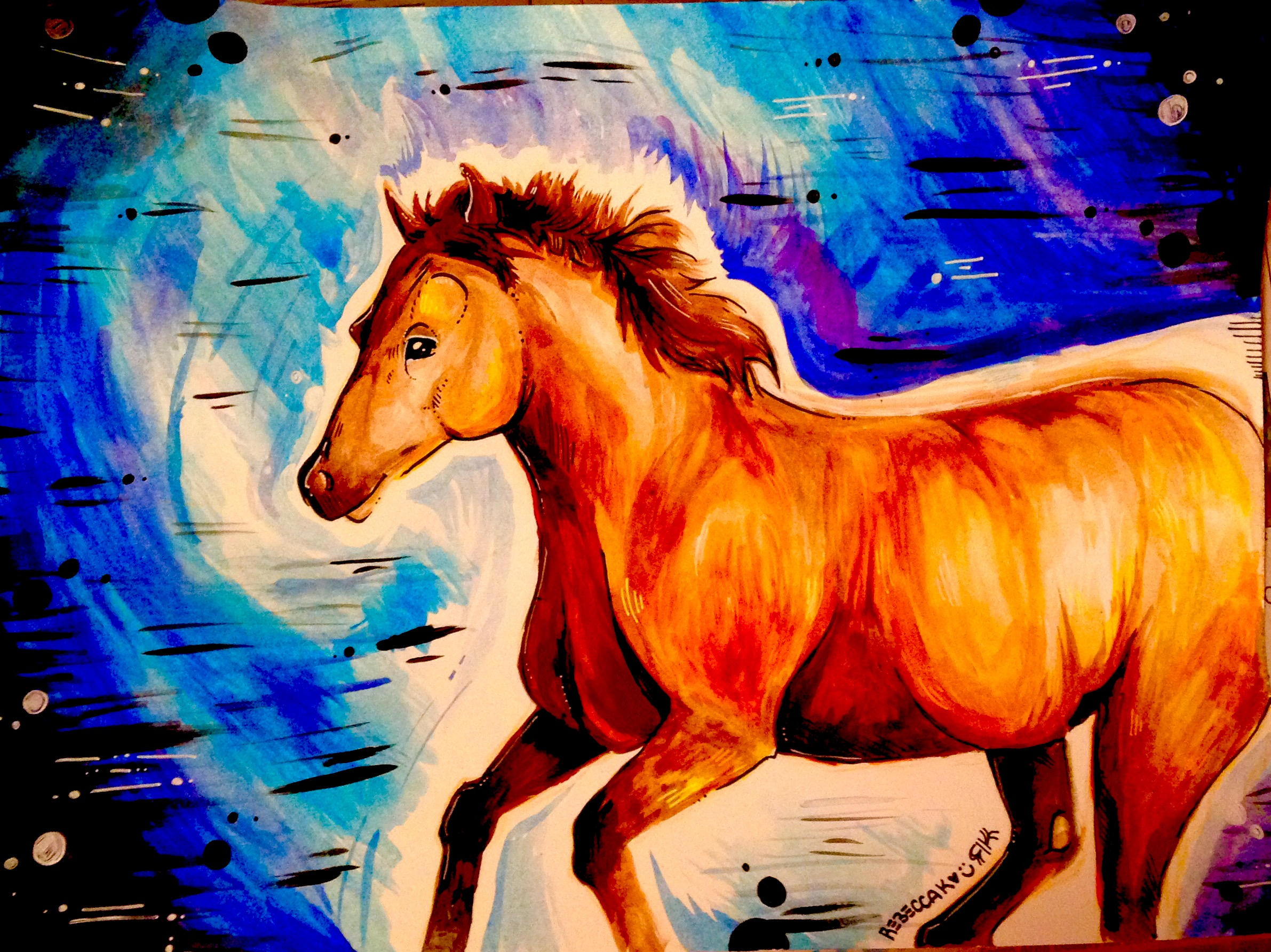 Horse-Water Color
