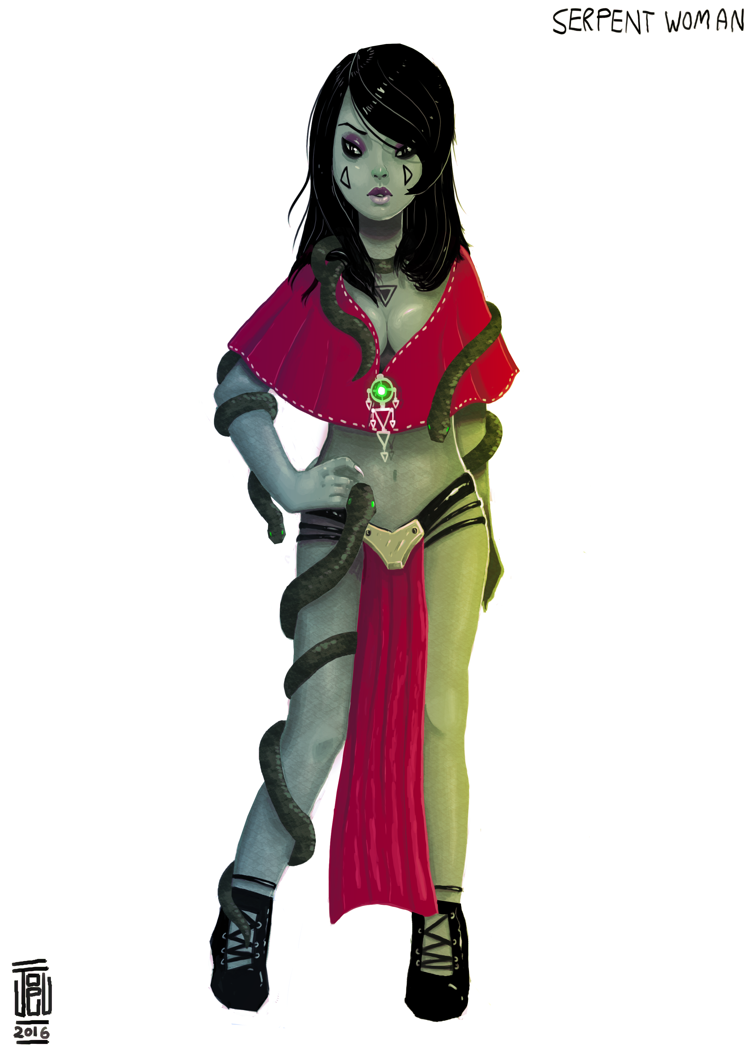 Serpent woman Concept 2