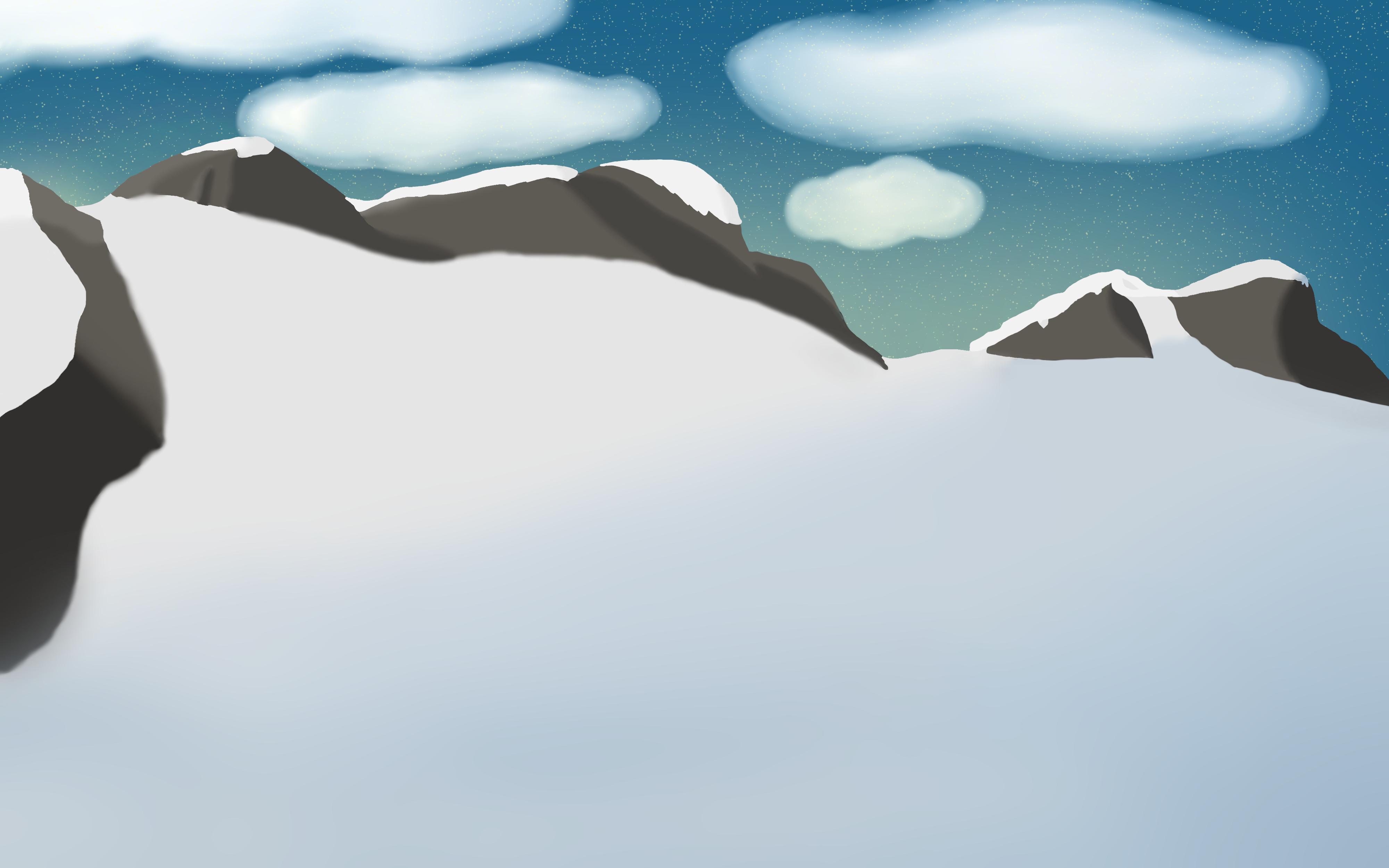 Top snow mountain