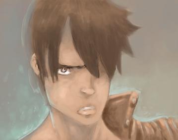 Manga Guy painting